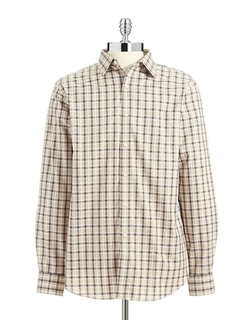 Black Brown 1826 - Cotton Plaid Sportshirt