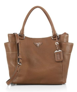 Prada  - Daino Side-Pocket Hobo Bag