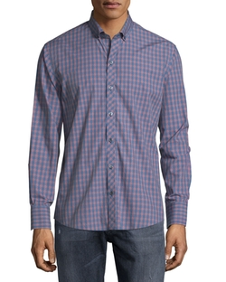 Zachary Prell - Check Long-Sleeve Woven Sport Shirt