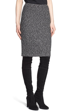 St. John Collection - Tweed Knit Pencil Skirt