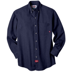 Dickies - Long-Sleeve Denim Work Shirt
