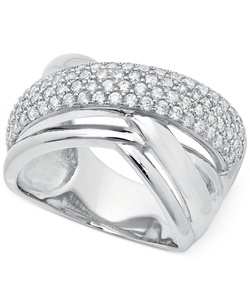 Crislu - Zirconia Crossover Ring