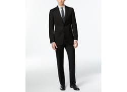 Calvin Klein  - Solid Wool Black Slim X Fit Suit