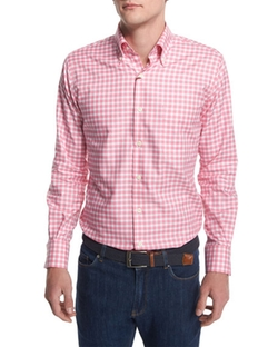 Peter Millar - Check Long-Sleeve Oxford Shirt