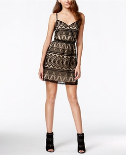 Be Bop - Contrast Lace Party Dress