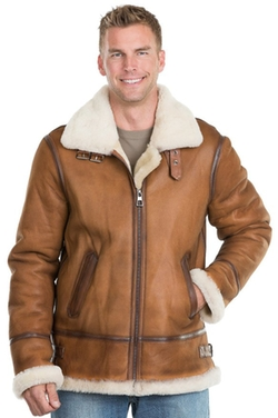 Overland Sheepskin Co  - Jason Sheepskin B-3 Bomber Jacket