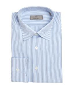 Canali  - Stripe Cotton Spread Collar Dress Shirt