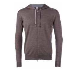 Eleventy - Elbow Patch Zipped Hoodie