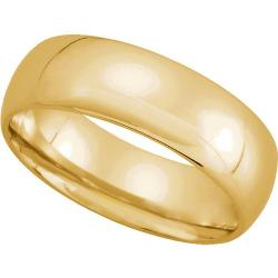 Gembrooke Creations  - Womens 10K Yellow Gold Light Comfort Fit Wedding Band