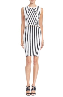 Opening Ceremony - Argyle Stitch Sleeveless Sheath Dress
