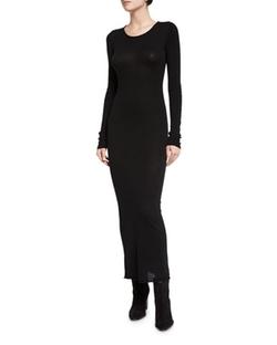 T By Alexander Wang - Long-Sleeve Merino Jersey Maxi Dress