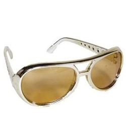 Rinco - Gold Rock Star Costume Aviator Sunglasses