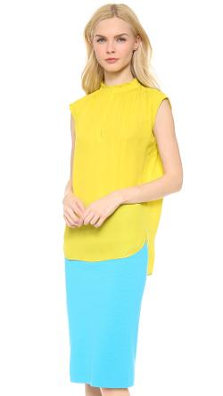Cedric Charlier  - Silk Sleeveless Blouse