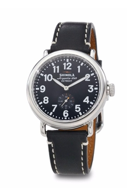 Shinola - Runwell Stainless Steel & Leather Strap Watch