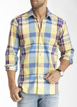 Jared Lang  - Can Long Sleeve Plaid Woven Shirt