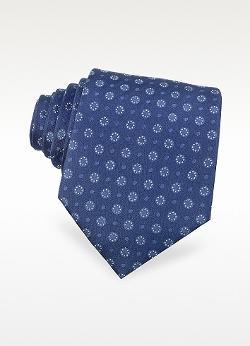 Black Bear  - Dotted Pattern Woven Silk Tie