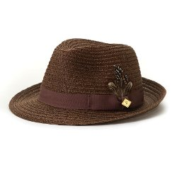 Stacy Adams - Straw Fedora Hat