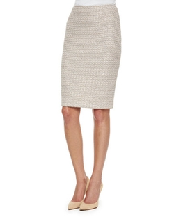 St. John Collection - Organic Texture Tweed Pencil Skirt