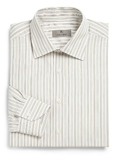 Canali  - Regular-Fit Track Stripe Dress Shirt