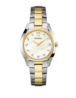 Bulova - Slim Duet Two-Tone Diamond-Accented Watch