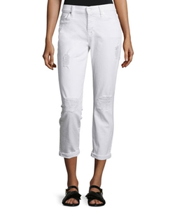 7 For All Mankind - Josefina Destroyed Cropped Jeans