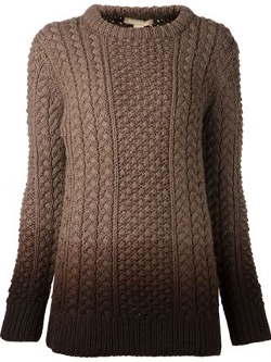 Michael Kors - Dip-Dye Cable Knit Sweater