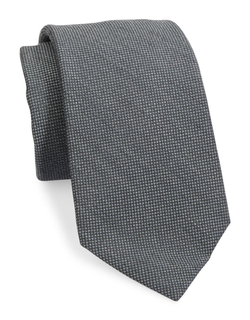 Black Brown 1826 - Textured Solid Silk & Wool Tie