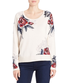 French Connection - Rose-Print Sweater
