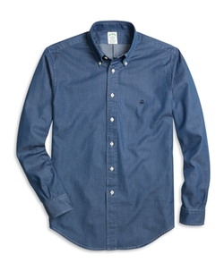 Brooks Brothers - Milano Fit Button-Down Collar Denim Sport Shirt