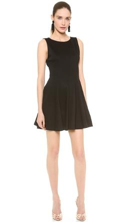 alice + olivia Betsey  - Seamed Fit & Flare Dress