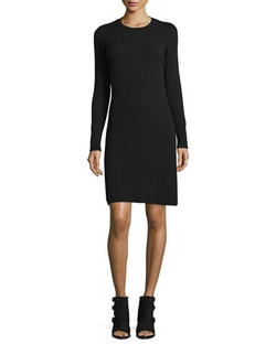 Neiman Marcus Cashmere Collection - Cashmere Crewneck Sweaterdress