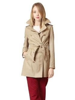 Annie P - Woven Techno Blend Trench Coat