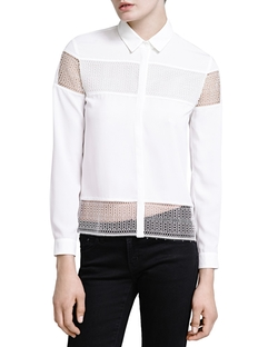 The Kooples - Lace Inset Shirt