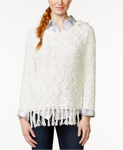 G.H. Bass & Co.  - Hooded Fringe-Trim Sweater