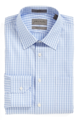 John W. Nordstrom - Traditional Fit Non-Iron Check Twill Dress Shirt
