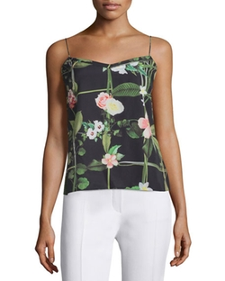 Ted Baker London - Cynaria Secret Trellis-Print Camisole Top