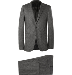 Givenchy  - Grey Slim-Fit Textured Wool-Blend Suit