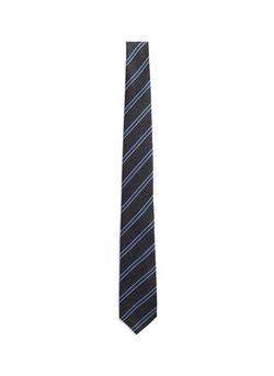 Isaia  - Regimental Stripe Silk-Cashmere Tie