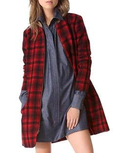 Oure - Women Plaid Outwear Coat