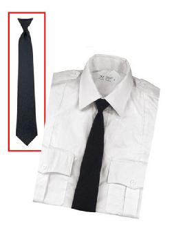 Army navy shop - Police Uniform Necktie Clip On 20 Inch Black Tie