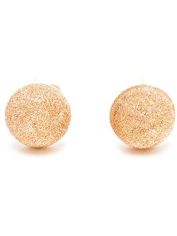 CAROLINA BUCCI  - 18K Gold Sparkly Button Studs