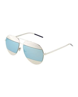 Dior - Split Two-Tone Metallic Aviator Sunglasses