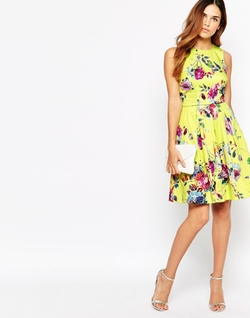 Asos - Warehouse Floral Prom Dress