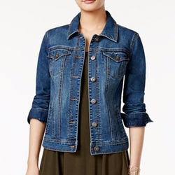 Style & Co. - Mosaic Wash Denim Jacket