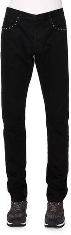 Valentino - Studded-Pocket Slim-Fit Denim Jeans