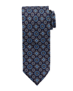 Brioni	 - Large Medallion-Print Silk Tie
