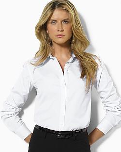 Lauren Ralph Lauren  - Petites Non Iron Dress Shirt