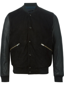 Paul Smith Jeans   - Contrasting Sleeves Bomber Jacket
