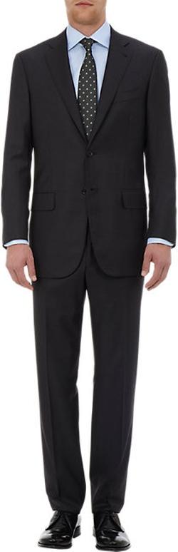 Isaia  - Sirio Aquaspider Two-Button Suit