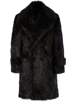 Juun.J - Beaver Fur Double Breasted Coat